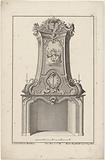 Design for a chimney with Minerva