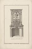 Design for a chimney with a hero on horseback