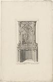 Design for a chimney with Apollo defeating Python