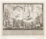 Decorations at the house of Mayor R Blok in Hoorn, 1766
