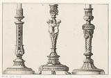 Candlesticks with half-figures