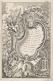 Cartouche with putti