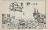 Cartoon on the run from notary Willem Jan Hidde Bok, 1870