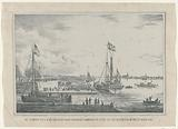 The arrival of His Majesty the King with steam of his own De Leeuw, at the Katerveer, on the 23rd of July 1846