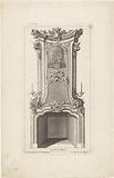 Design for a chimney depicting a couple making music
