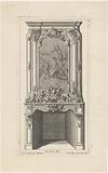Mantelpiece with pastoral scene