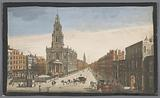 View of Somerset House and the Saint Mary-le-Strand church in London