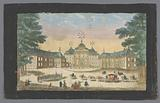 View of the front of the Huis ten Bosch Palace in The Hague