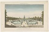 View of the fountain of a garden in Aranjuez