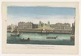 View of Greenwich Hospital on the River Thames at Greenwich