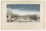 View of a square in Frankfurt am Main