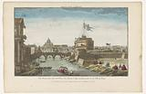View of Castel Sant'Angelo and Castel Sant'Angelo across the Tiber River in Rome