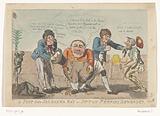 Cartoon on the capitulation of the Batavian fleet in the Saldanha Bay, 1796