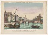 View of the Nieuwe Brug over the Amstel in Amsterdam