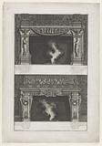 Designs for two mantelpieces