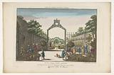 View of the Jardin des Marchands in Paris