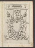 Monument with cartouche with putti