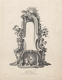 Fireplace with putti
