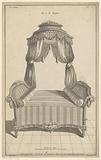 Four poster bed with roll cushions