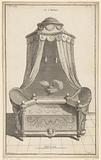 Four poster bed with smoking barrel