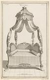 Four poster bed with putti