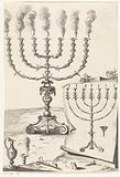 Golden seven-armed candlestick or menorah