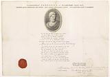 Membership certificate of the Democriet Society in Haarlem by Abraham Coenraad Swaving, 1797