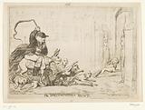 Cartoon on Warren Hastings, 1788