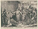 Armed Spaniards invade a house