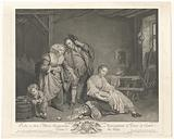 Young woman next to a basket of broken eggs