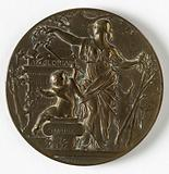 Medal awarded to the foreign jury members of the world exhibition in Paris, 1900