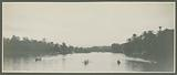 Panorama of the rowing competitions on the Wampur River at the Jubilee of the Sultan