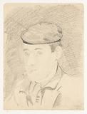 Self-portrait with cap and cigarette: B-1–1, February 18.