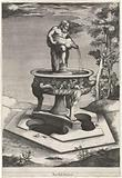 Fountain with Silenus in the gardens of Palazzo Cesi in the Vatican
