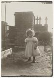 Marba (?) Titzenthaler, daughter of the photographer, on the roof terrace of the Friedrichstrasse residence, Berlin