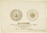 Draft drawing of the medal box donated to the French Vice Admiral De Suffren for services rendered