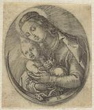 Mary with Christ child on a crescent moon