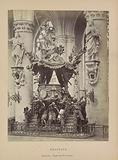 Pulpit in the Saint Michael and Saint Gudula Cathedral in Brussels