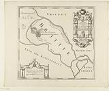 Historical map of the mouth of the Rhine and the House of Britten