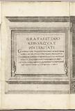 Title print for the series Procession of Charles V with the Pope at Bologna after his coronation to Emperor, 1530, …