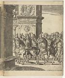 The head of the procession at a triumphal gate
