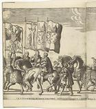 Flag bearers with Habsburg weapons and the Pope of Rome
