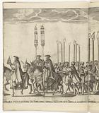 Papal tiara and candlesticks