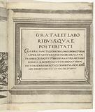 Title print for the series Procession of Charles V with the Pope at Bologna after his coronation as emperor, 1530, …