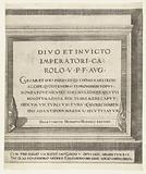 Sheet with the dedication to Charles V, dedication