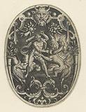 Surface decoration: Hercules kills the monster Geryon.