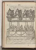 A barge with nobles and officers of the prince, 1577