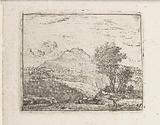 Italianate landscape with shepherd and dog
