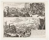 Two scenes about the siege of Antwerp by the Duke of Parma, 1584–1585