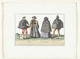 Two men and two women dressed according to fashion in Antwerp and Brabant, ca 1580
